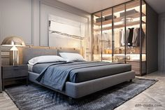 Luxury, comfort and unique aesthetic solutions when developing projects. London Apartment Interior, Apartment Renovation, Studio Type Apartment, Round Beds, Living Room Windows, Cool Apartments, Aesthetic Bedroom, Interior Design Studio, Bedroom Styles