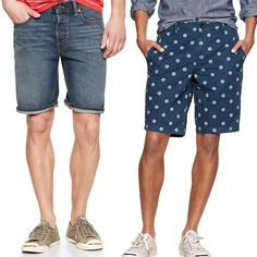 Those heading off on a summer city break or to a festival will love denim mens shorts for their ease of care - denim rarely needs an iron and often, the more creased and worn in denim shorts look, the higher they rate on the style scale.