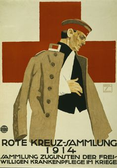 GERMANY: Ludwig Hohlwein, Fund Raising poster, 1914.