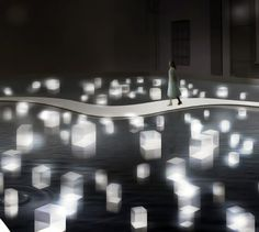 the installation, whose concept the designers describe as 'turn touch into delight' with the goal of 'passing [something] on',   was supported by toshiba.