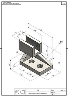 Autocad, Mechanical Engineering Design, Mechanical Design, Isometric Drawing Exercises, Cad Computer, Solidworks Tutorial, Interesting Drawings, Industrial Design Sketch, 3d Drawings