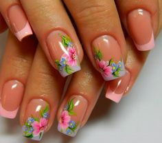 Floral nail design for your favorite floral prints.