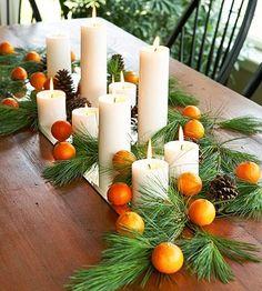 citrus and pine garland