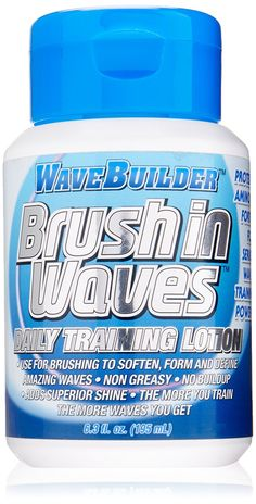 Wave Builder Brush In Waves Daily Training Lotion, 6.3 Ounce -- This is an Amazon Affiliate link. Be sure to check out this awesome product.