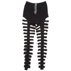 Topshop Leggings Black Cut Out Leggings - StyleCaster