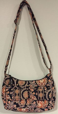 Vera Bradley Caffe Latte LIBBY Purse Cross body Shoulder Bag Adjustable Strap #VeraBradley #Libby