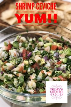 Enjoy this yummy and nutritious ceviche. Click link for printable recipe.