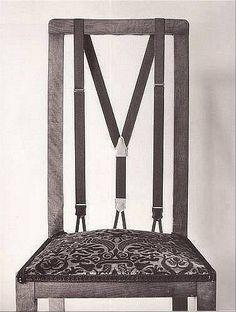 Personnalisation d'une chaise avec une paire de bretelles