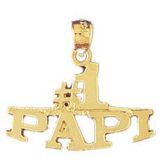 14K GOLD SAYING CHARM - #1 PAPI #9885