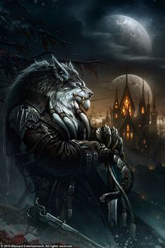 World of Warcraft art.worgen over Gilneas. World Of Warcraft, Art Warcraft, Dark Fantasy, Fantasy World, Final Fantasy, Werewolf Art, Werewolf Hunter, Werewolf Tattoo, Vampires And Werewolves