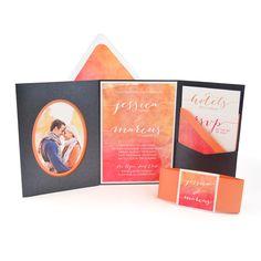 Cards and Pockets Signature Pocketframe Invitation