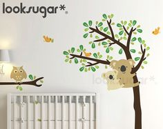 Koala Tree Wall Decal. Koala Wall Decal for Baby by looksugar