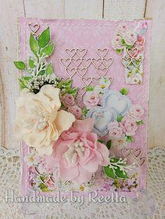 Intohimona askartelu: Kesäinen kortti kihla- tai hääparille Tote Bag, Flowers, Handmade, Hand Made, Totes, Royal Icing Flowers, Flower, Florals, Tote Bags