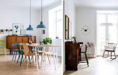 Nordisk med farver: Her er alt valgt med hjertet Divider, Tekstiler, Living Room, Furniture, Full House, Home Decor, Amazing, Vintage Art, Decoration Home