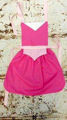 AURORA Sleeping Beauty Sewing PATTERN. Disney princess inspired Child Costume Apron. Dress up Play. Fits sizes 2t, 3t, 4, 5, 6, 7, 8. Girls