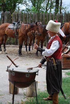Zaporozhye,Khortitsa Island-cossack drum