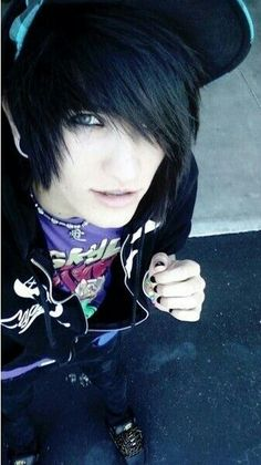 cute emo boys with snake bites and black hair and blue eyes - Google Search