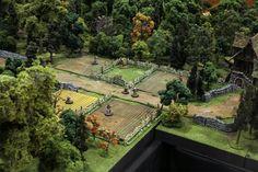 ライアン・デボート作:「テーブルトップ・ワールド」というジオラマゲームのパーツで作り上げた中世のヨーロッパの世界