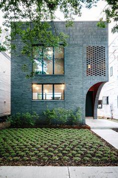 By Horton Harper Architects. Facade Architecture, Residential Architecture, Contemporary Architecture, Landscape Architecture, Facade Design, Exterior Design, House Design, Clapboard Siding, Small Courtyards