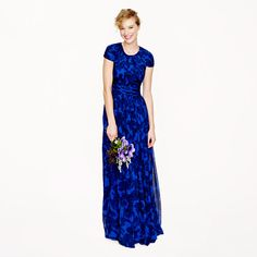 Mrs. Poot - sage/pink/ ivory  J.Crew+-+Collection+Dauphine+gown+in+watercolor+floral