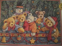 Beary Christmas Cross Stitch Kit by Dimensions por BlessedSunshine