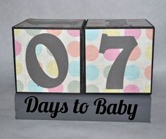 Your place to buy and sell all things handmade Pregnancy Countdown, Surrogacy, Baby Blocks, Maybe One Day, Starling, Block Lettering, Wooden Blocks, Baby Crafts, Baby Ideas