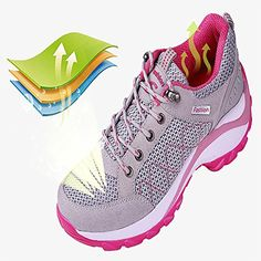 ONCEMORE WomenBig Girls RunningJoggingWalking Shoes with Thick Bottom ** For more information, visit image link. (This is an Amazon affiliate link)