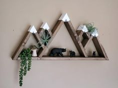 Mountain Shelf, Mountain Decor, Mountain Nursery, Mountain Range, Nursery Shelves, Nursery Wall Decor, Rustic Nursery, Room Shelves, Display Shelves