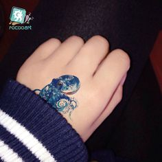 44b080a144938 Waterproof Temporary Tattoos sticker color Sea Octopus tattoo Water  Transfer fake tatto flash tatto 10.5*