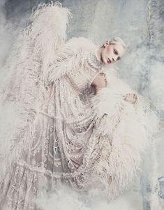 Julia Nobis in Alexander McQueen Fall 2014 for Vogue Japan September 2014 by Luigi+Iango