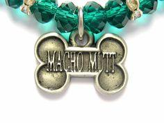 """Macho Mutt"" Charm Necklace by JewelryGirlPets"