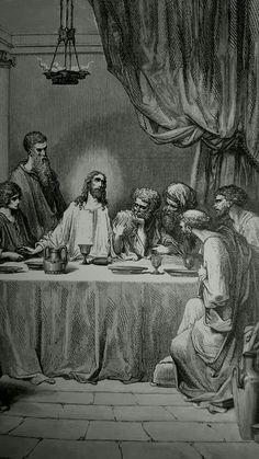 Phillip Medhurst presents detail 189/241 Gustave Doré Bible The Last Supper Mark 14:22-24