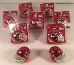 Riddell KANSAS CITY CHIEFS Color Chrome MINI HELMETS Lot of 9,7 New NFL Football