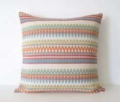 Decorative pillow cover  20x20  Ikat  ZigZag  by chicdecorpillows