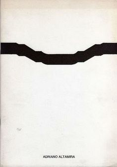 ALTAMIRA Adriano (1947), Adriano Altamira. Milano, Cenobio-Visualità Ass., 1972.