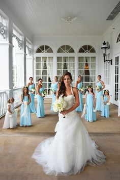 Walt Disney World bride and her bridal party at Disney's Grand Floridian Resort & Spa