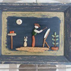 @tashveotesi  tas boyama stone painting - ressam
