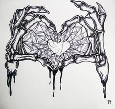 skeleton hand halloween art drawing inktober black ink dotwork tattoo idea illustr 4 art drawing Cool Men Tattoo Design Ideas On 2019 Tattoos are a permanent part. Tattoo Sketches, Tattoo Drawings, Body Art Tattoos, Art Sketches, I Tattoo, Heart Drawings, Tattoo Hand, Halloween Kunst, Halloween Drawings