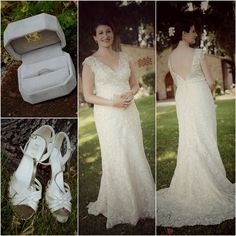 The wedding dress, shoes and rings - Tuscan wedding