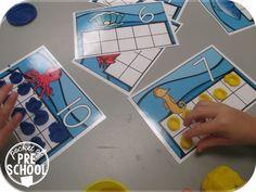 Ocean animal ten frame play dough mats (fine motor fun and counting) Pocket of Preschool