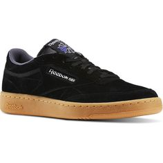 Reebok Club C 85 Indoor ($80) ❤ liked on Polyvore featuring men's fashion, men's shoes, shoes, men, mens shoes, reebok mens shoes and mens leather shoes