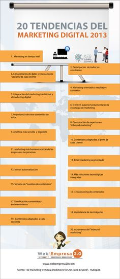 20 tendencias marketing digital 2013 #infografia