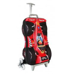Fenza Racing Trolley - Childrens Carry-On Hand Luggage Racing Car Design Perfect for Ryanair and Easyjet (Red) Kids Luggage, Hand Luggage, Travel Luggage, Luggage Bags, Racing Car Design, Golf Bags, Christening, Carry On, Baby Car Seats