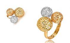 Dámsky prsteň z viacfarebného zlata