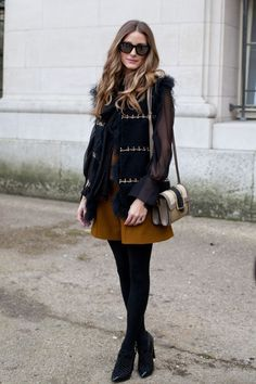 Olivia Palermo arriving at an even in Paris. See all of the model's best looks.