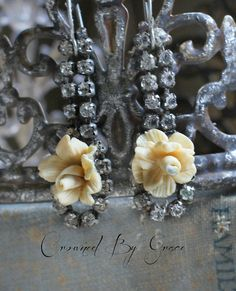 Hey, I found this really awesome Etsy listing at https://www.etsy.com/listing/236534662/cottage-rosevintage-assemblage-earrings