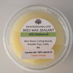 Items similar to Natural Bees Wax Sealant, Bees Wax Polish, Furniture Polish,Cutting Board Oil on Etsy