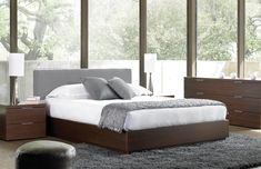 Maya Bed- w/ upholstered headboard