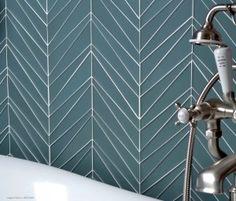 Palms tile pattern - chevron