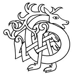 Celtic Deer Symbol: The deer was among the most important animals to the early Celts and were thought to be fairy cattle herded by a fairy giantess who shape shifted into a red deer. 'Pre-Celtic Neolithic art depicts shape-shifting shamans in the form of deer, who may prefigure the shape-shifting gods and heroes of Celtic legend, as well as Cernunnos, the stag-horned deity of healing and plenty.'